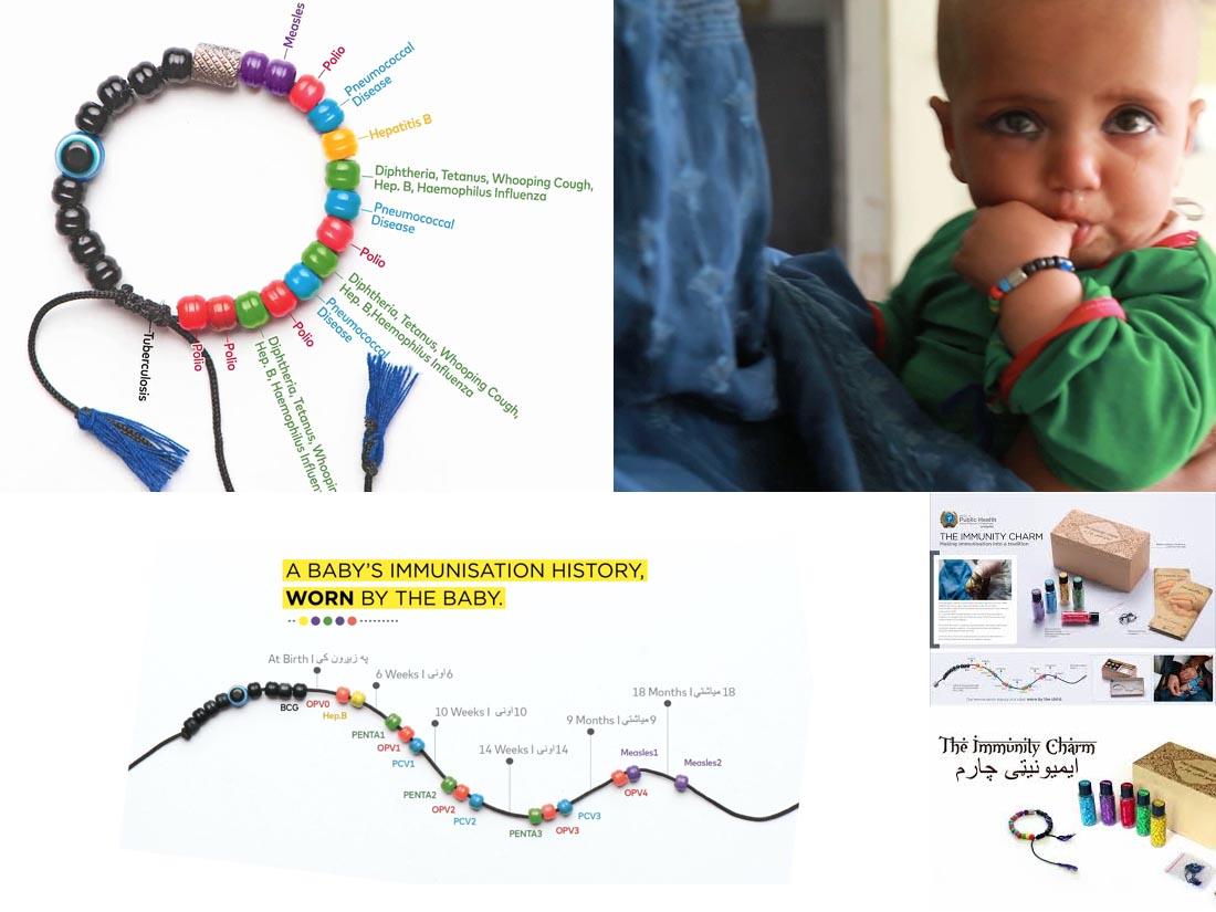 문맹으로 예방접종 정보를 읽지 못하는 엄마들도 아기에게 필요한 예방접종을 제때 할 수 있도록 유도한 유아사망률 1위 아프가니스탄의 캠페인 장면.