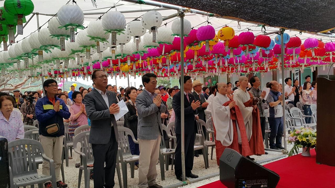 보리사 봉축법요식 축사를위해 보리사를 찾은 박수현 전 청와대 대변인