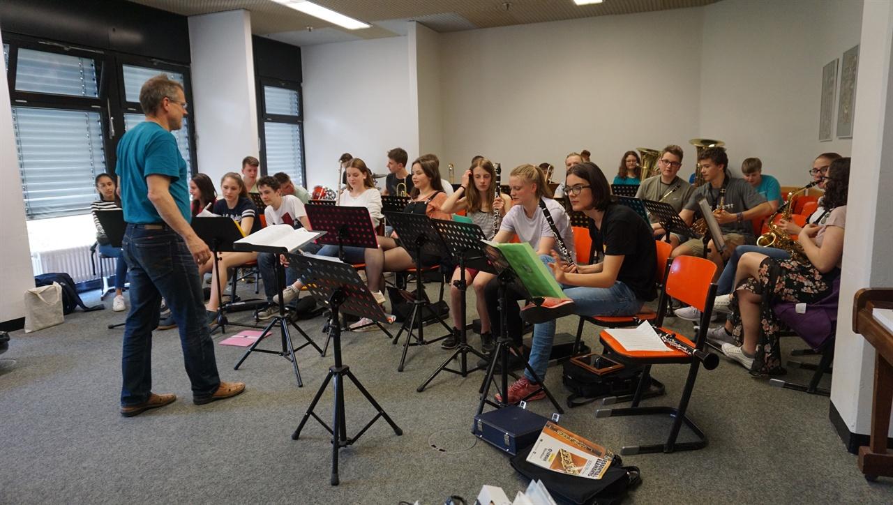 """""""음악 수업"""" 독일 괴팅겐 통합학교 음악수업 장면."""