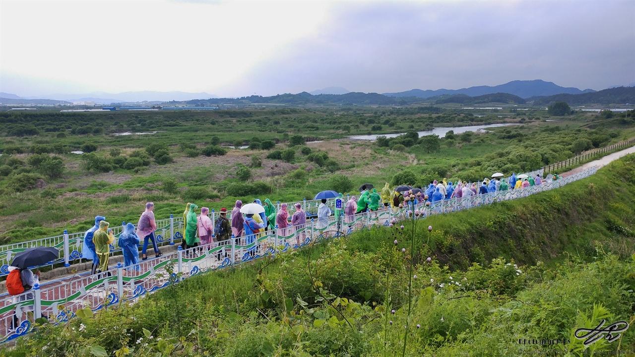 컬러풀 행진 대강면 기점을 출발한 학생들의 모습.