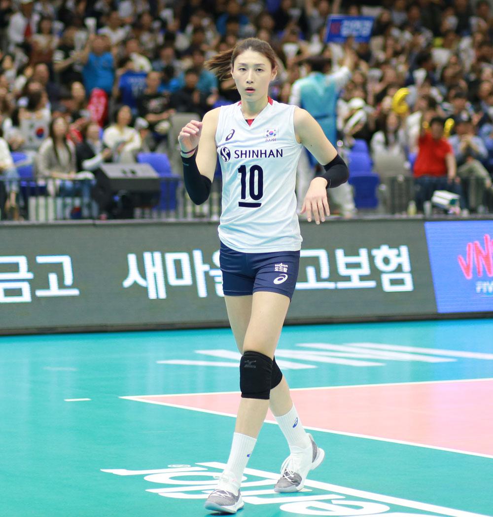 김연경 선수... 2018 네이션스 리그 한국-러시아전 (수원 실내체육관, 2018.5.23)