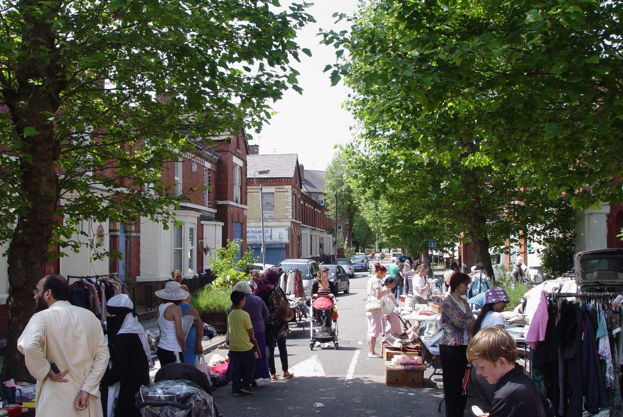 그랜비 거리 시장의 모습