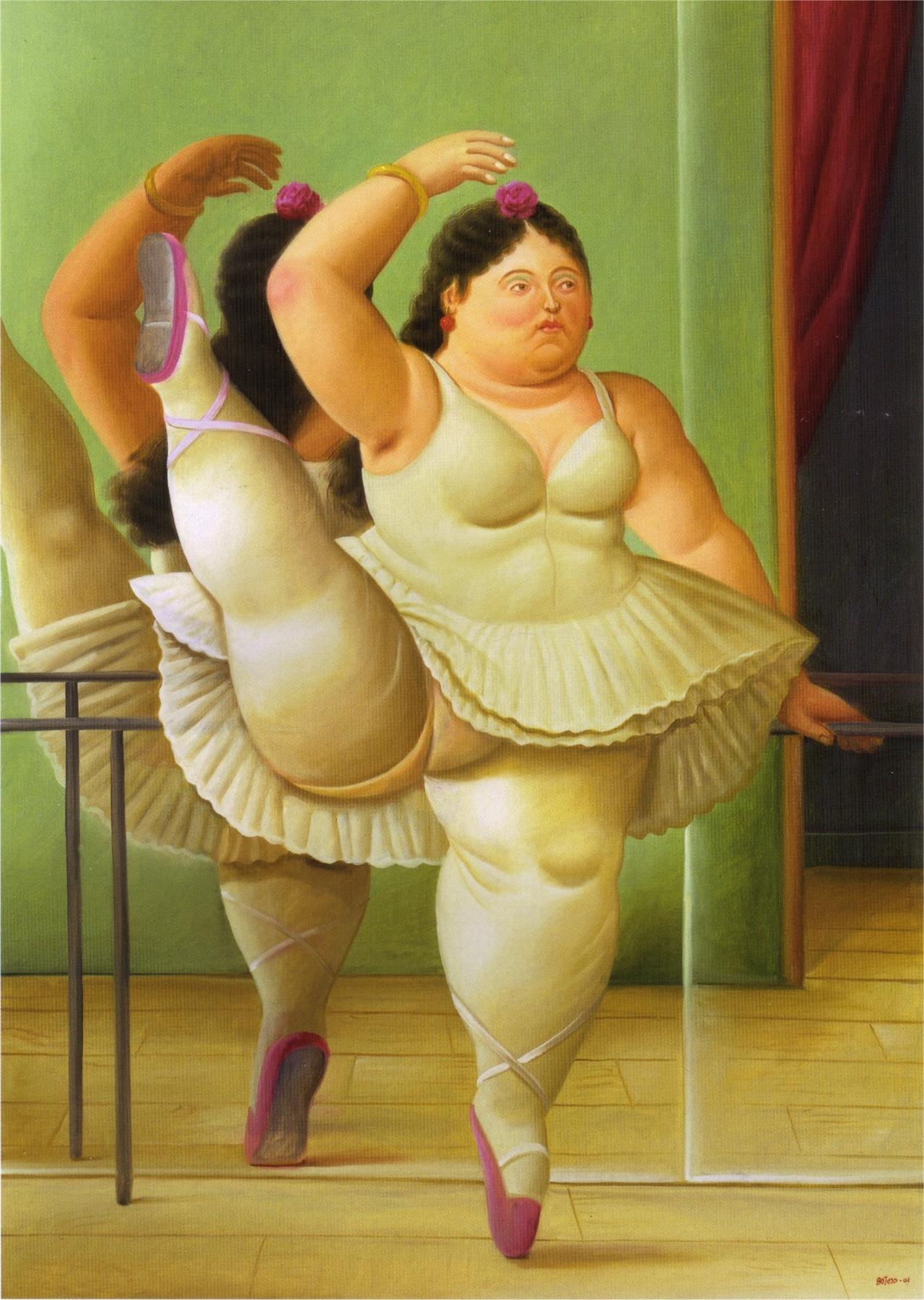 발레리나(페르난도 보테로, 2001,안티오키아박물관)