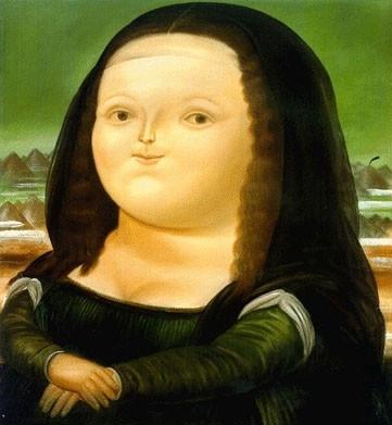 12세 모나리자(1959, 페르난도 보테로, 뉴욕 현대 미술관)
