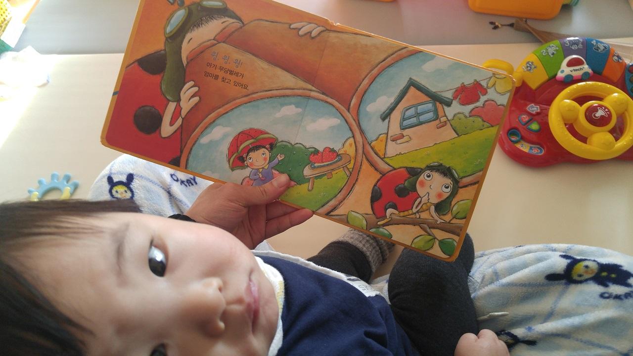 아기에게 책을 읽어주세요