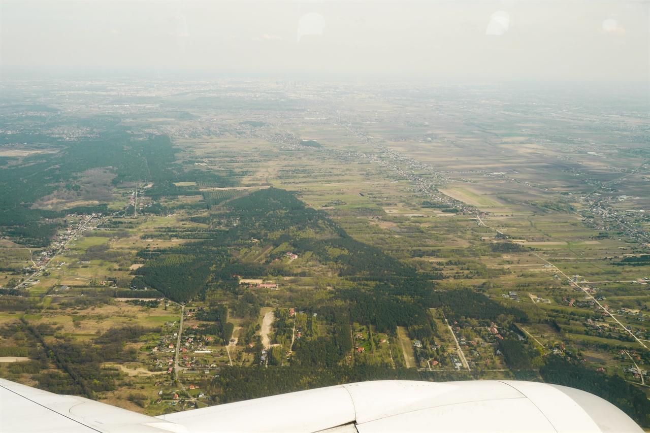 바르샤바 풍경  경유지 바르샤바 상공에서 내려다 본 바르샤바 풍경