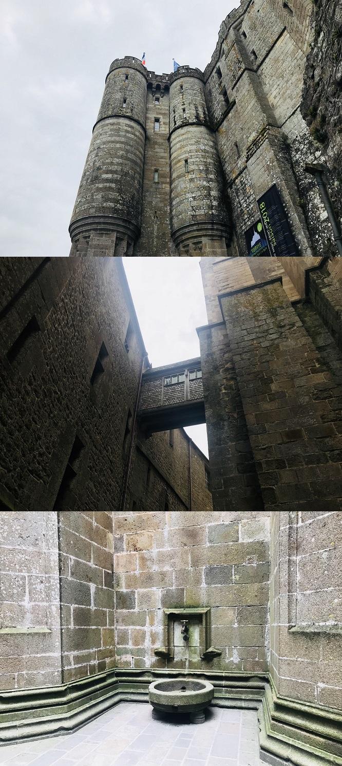몽생미셸 수도원 내부의 모습