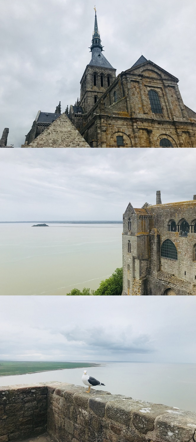 몽생미셸 수도원에서 바라본 풍경