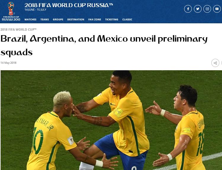 네이마르-제주스 브라질이 네이마르와 제주스를 앞세워 통산 6회 월드컵 우승에 도전한다.