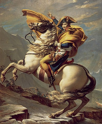 1800-1, 자크 루이 다비드 '알프스 산맥을 넘는 나폴레옹'