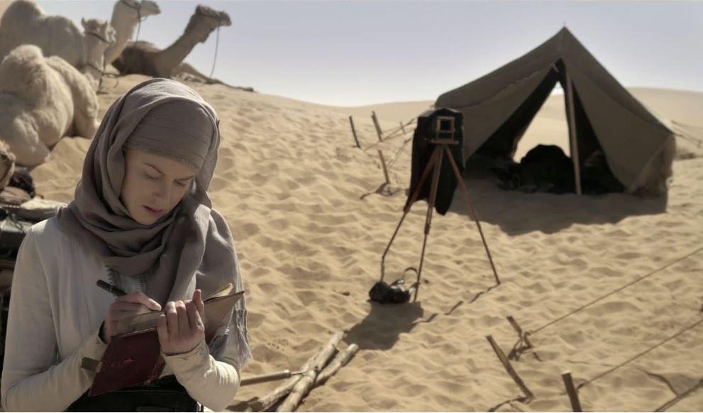 영화 <퀸 오브 데저트>의 거트루드 벨  거트루드 벨의 생애를 다룬 영화 퀸 오브 데저트 (Queen of the Desert, 2015)