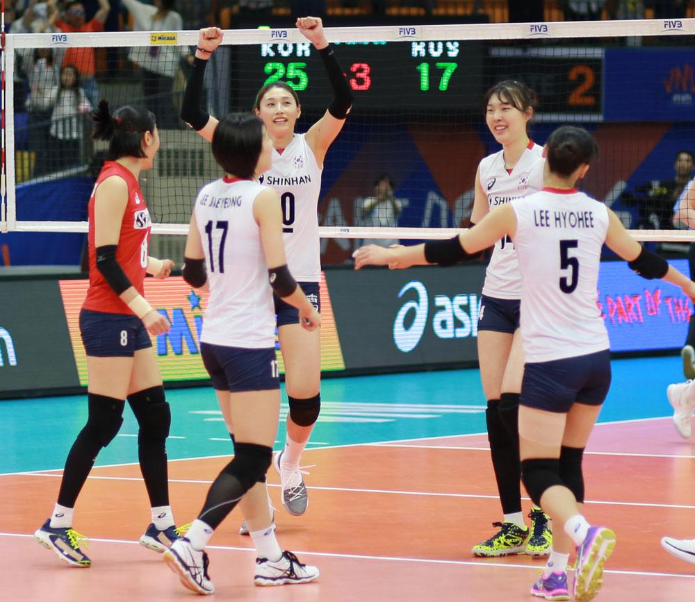 여자배구 대표팀 선수들... 2018 네이션스 리그 (2018.5.23, 수원 실내체육관)