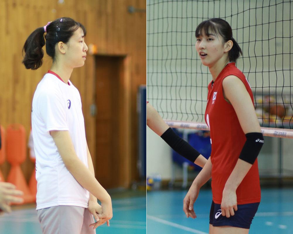 정호영(190cm)과 이주아(186cm) 선수?