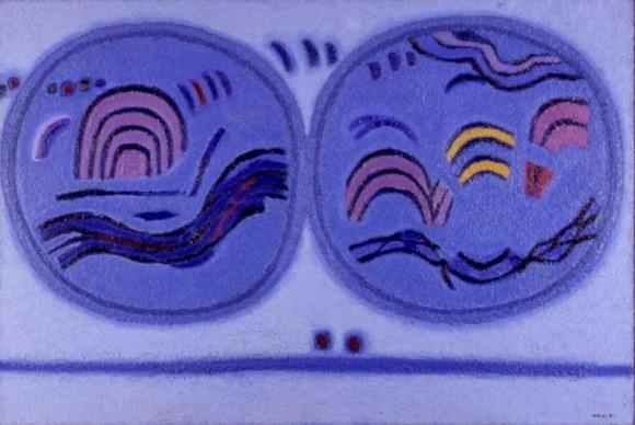 달두개(김 환기,1961, 국립현대 미술관)