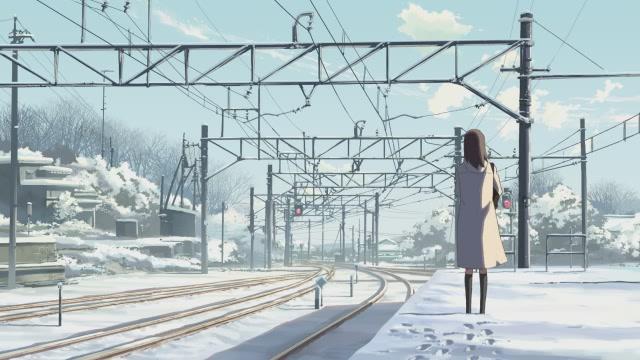 영화 < 초속 5cm >의 한 장면