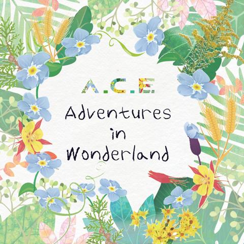 신곡과 기존 발표곡들을 함께 담은 새 음반 < A.C.E Adventures in Wonderland > 표지
