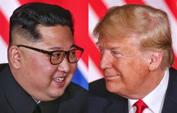 역사적인 북-미 정상회담 역사적인 첫 북미정상회담이 열린 12일 오후 싱가포르 센토사섬 카펠라호텔에서 김정은 국무위원장과 트럼프 대통령이 단독회담을 하고 있다.