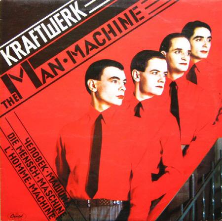 독일이 자랑하는 크라프트베르크의 < The Man Machine >앨범 커버. 공업이 발달했던 서독을 기반으로 전자 음악의 토대가 세워졌다.