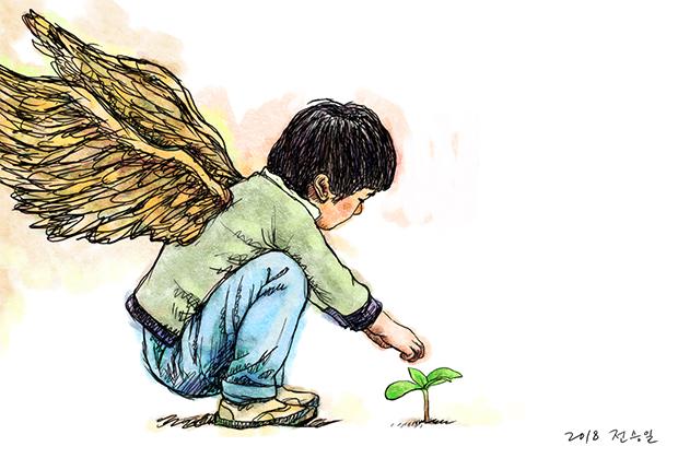 꼬마 천사 더 많은 민주주의, 그리고 평화로 나아가자!