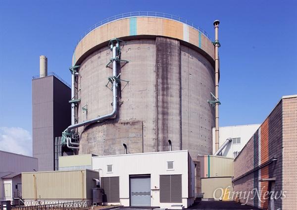 경북 경주에 있는 원자력발전소 원전 1호기.