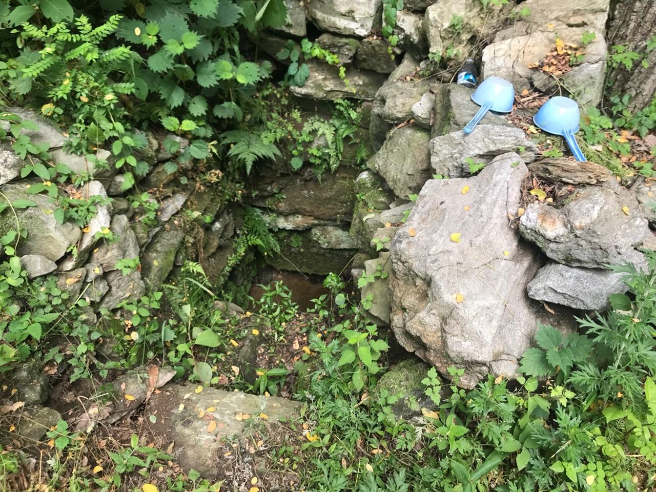 발원지로 지정할 만한 샘의 모습 .