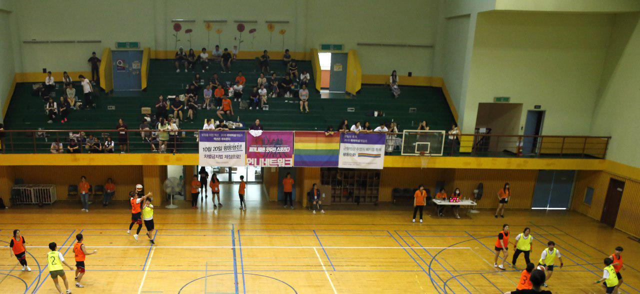 3on3 농구경기 장면