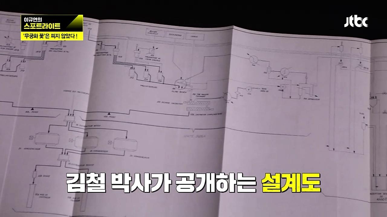 김철 박사가 공개한 설계도.
