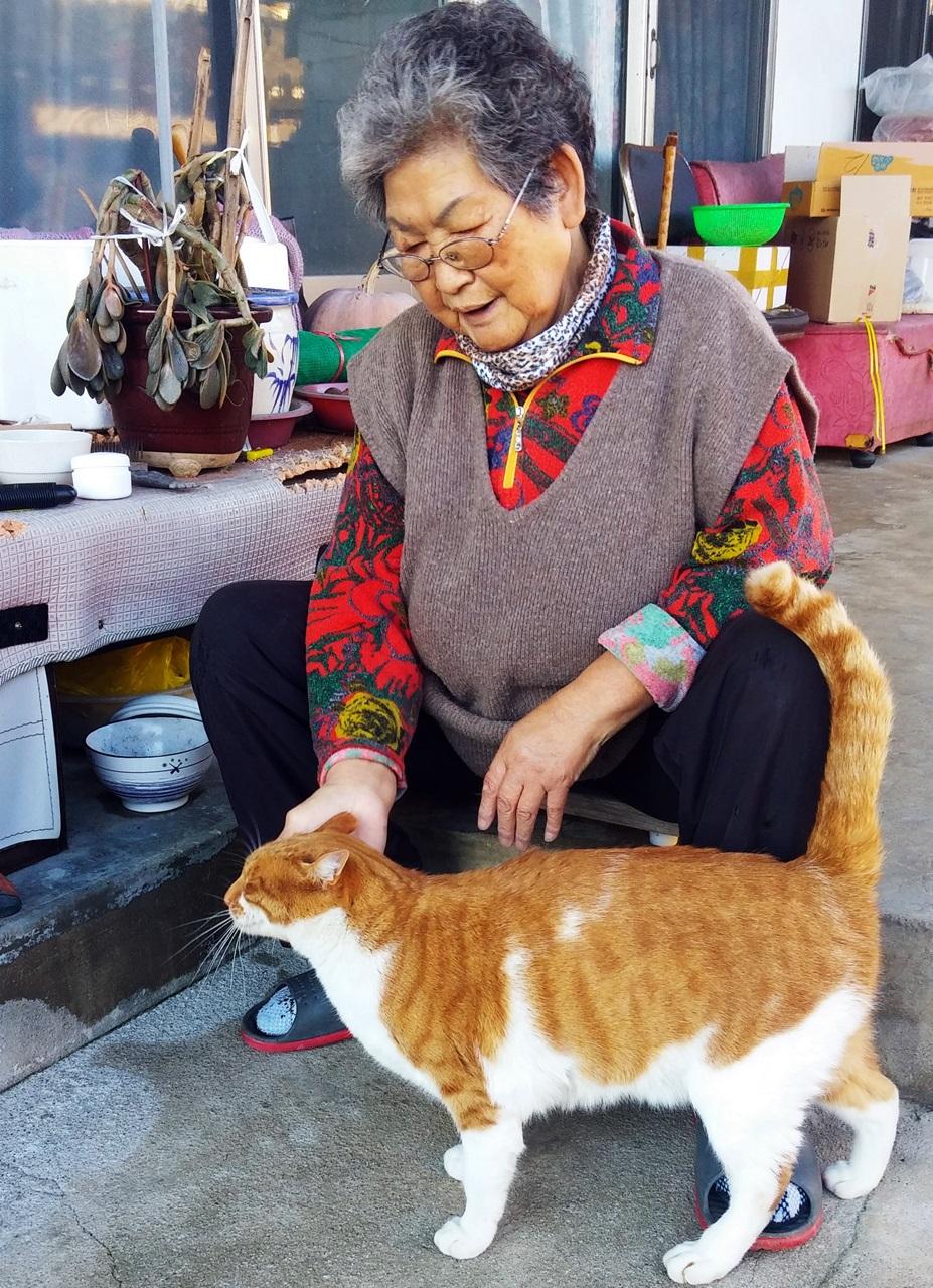 어머니와 고양이 '마루'