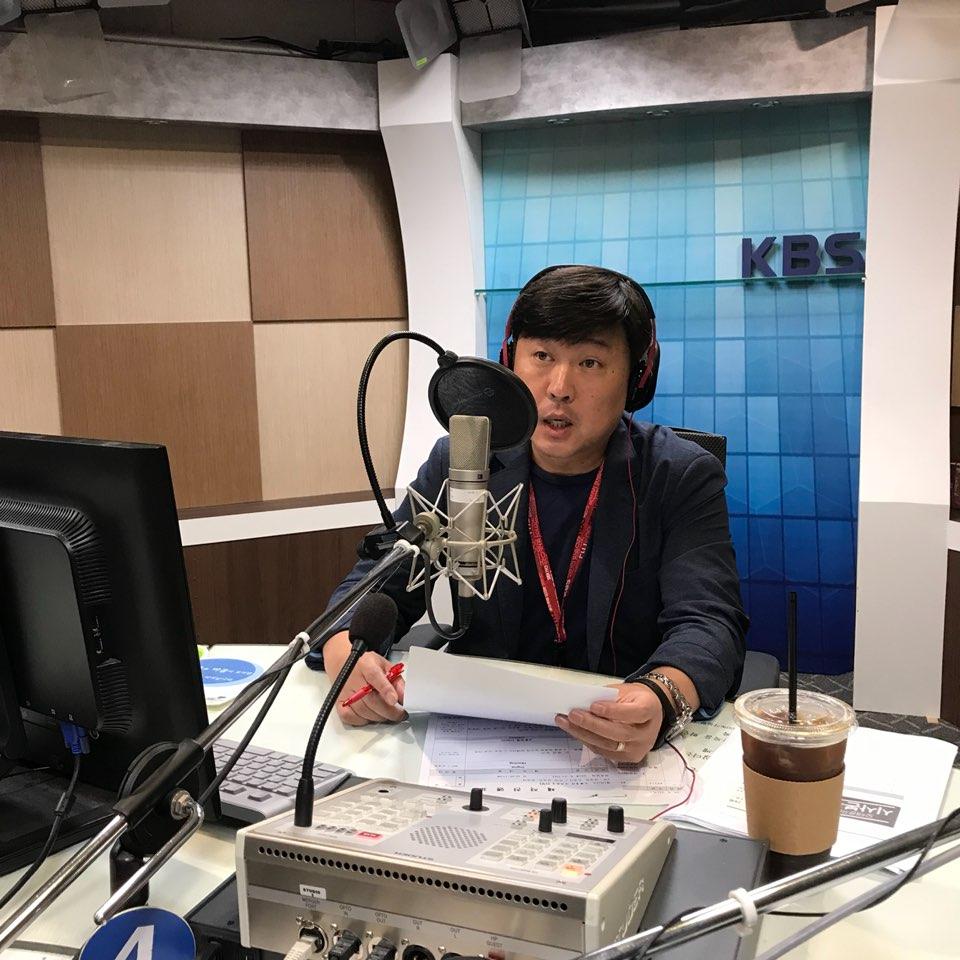 <오태훈의 시사본부>를 진행 중인 오태훈 KBS 아나운서