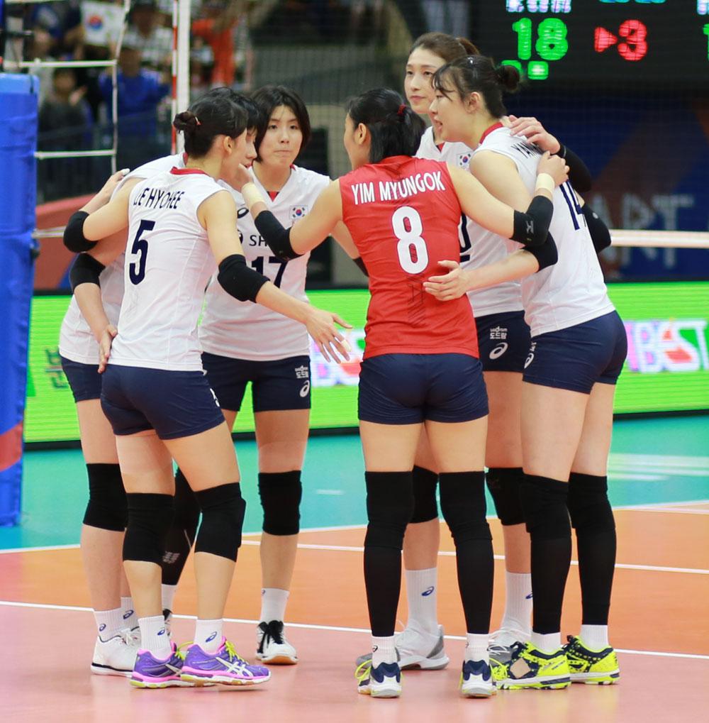 여자배구 대표팀 선수들... 2018 네이션스 리그 (수원 실내체육관)