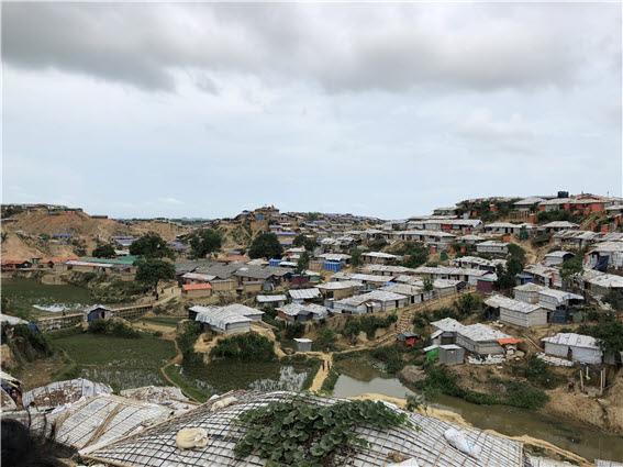 로힝야 난민캠프 방글라데시 하킴파라 로힝야 난민캠프의전경