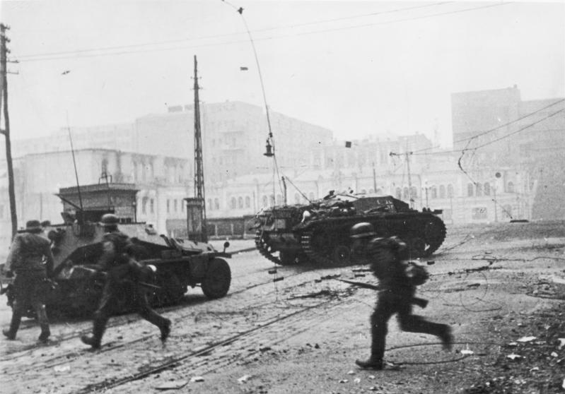 제2차 세계대전에 투입된 독일 군인들.