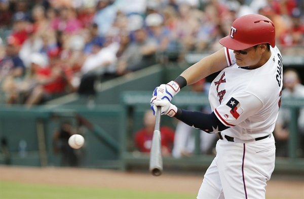 2018년 7월 5일(한국시간), 텍사스 알링턴에서 열린 경기에서 텍사스 레인저스의 추신수가 휴스턴 애스트로스를 상대로 솔로 홈런을 터뜨렸다.