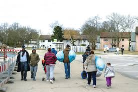 2015년 백만이 넘는 난민이 독일에오다