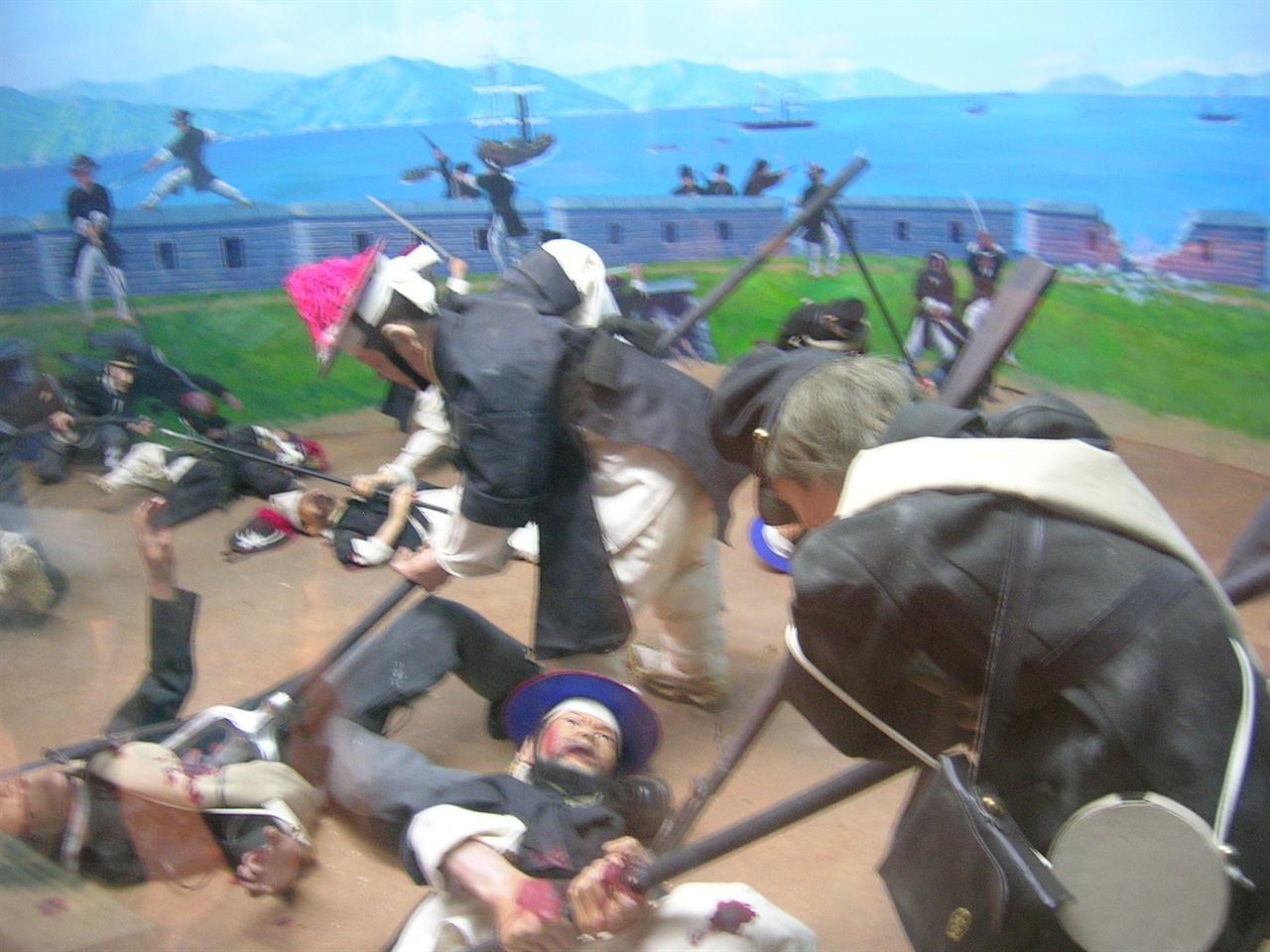 광성보에서 벌어진 전투. 강화역사관에서 찍은 사진.