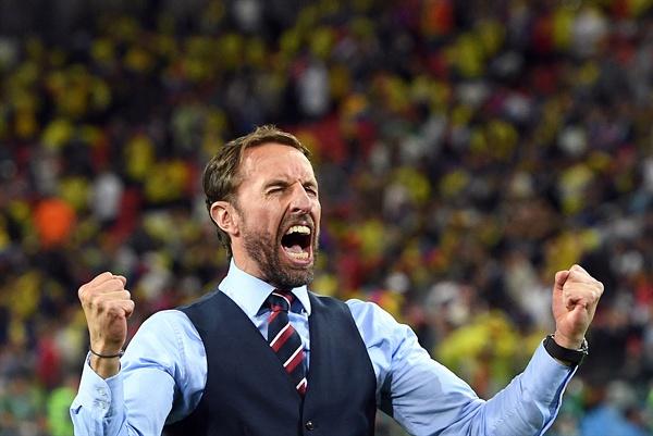 잉글랜드를 28년만에 준결승에 진출시킨 가레스 사우스게이트 감독.