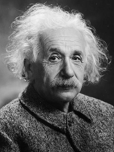알버트 아인슈타인.