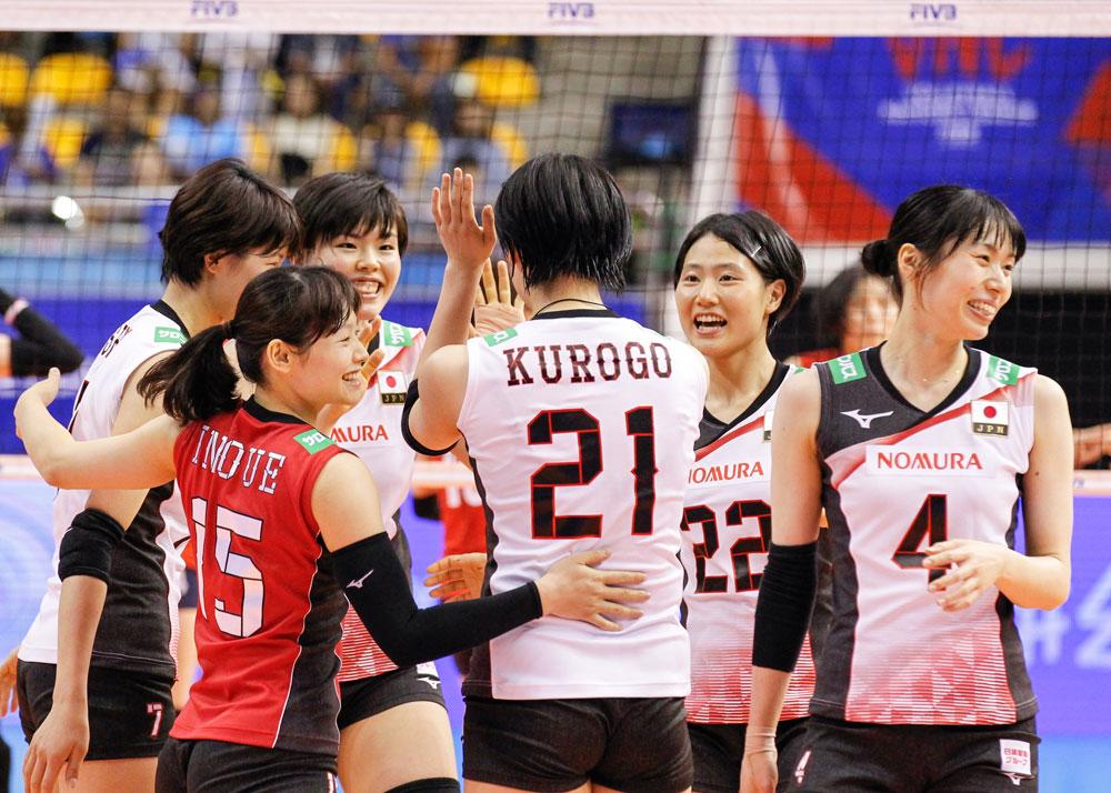 일본 여자배구 대표팀 선수들
