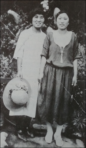 차보석 미국에서 활동할 당시의김마리아 지사와 차보석 지사(오른쪽)