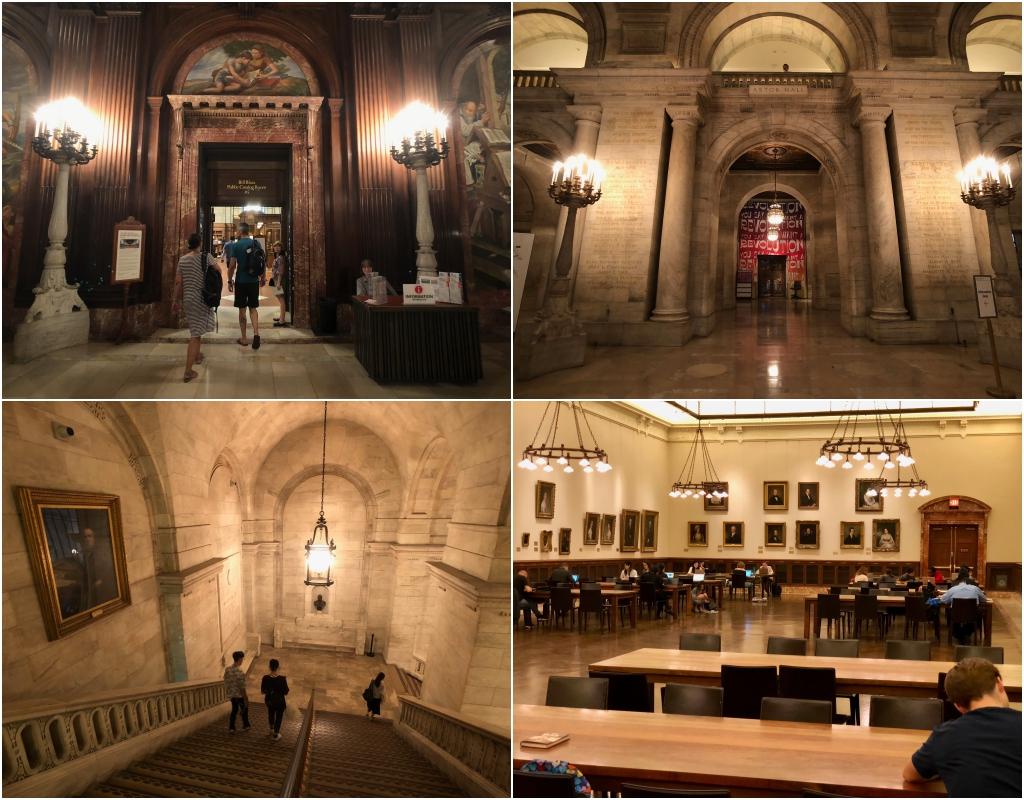 뉴욕 공공 도서관의 내부 모습