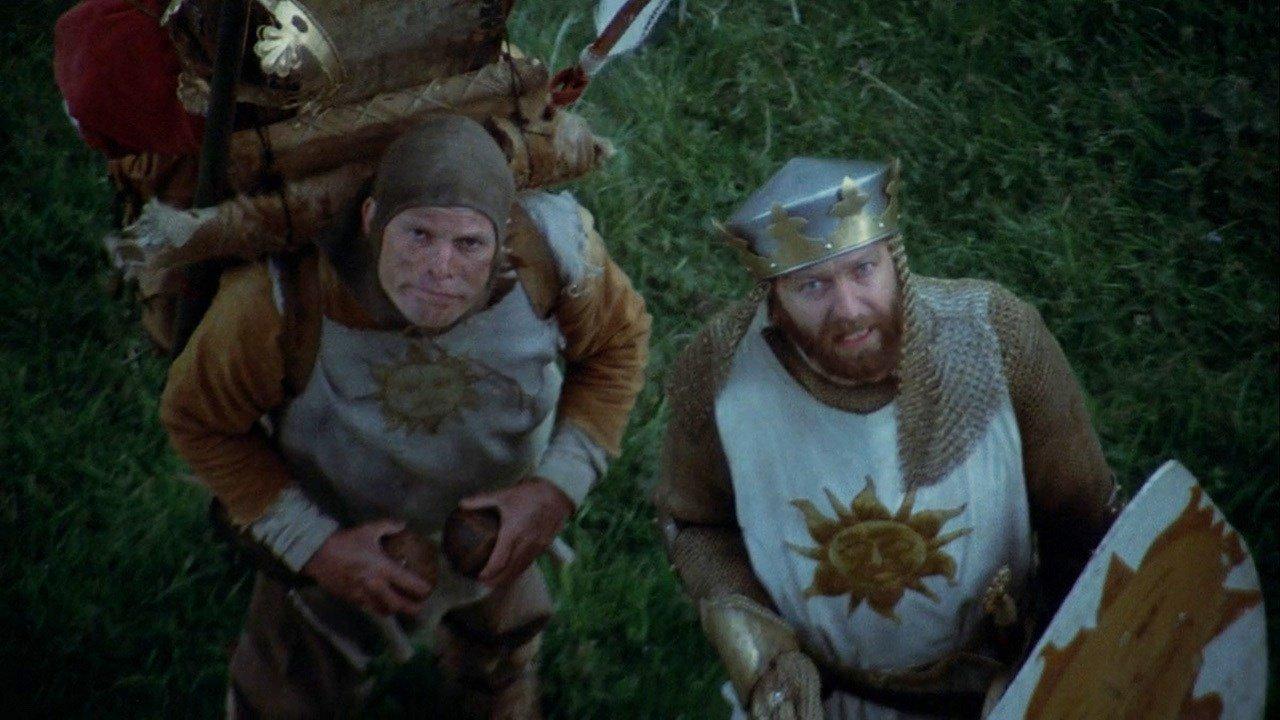 영화 <몬티 파이튼의 성배>의 한 장면