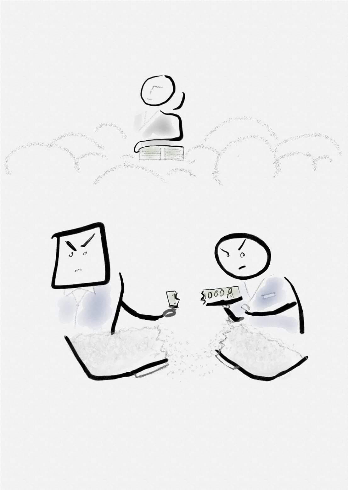 [글씨그림] 만원의 행복 이루지 못한 최저시급 만원을 풍자한 글씨그림 입니다.