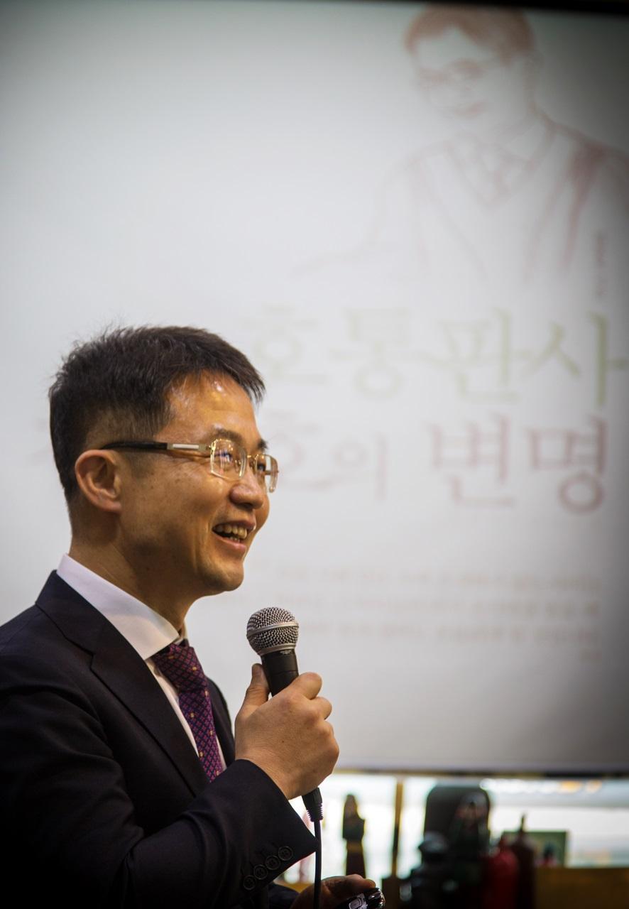 지난 7월, 대전에서 열린 북콘서트에서 강연 중인 천종호 판사.