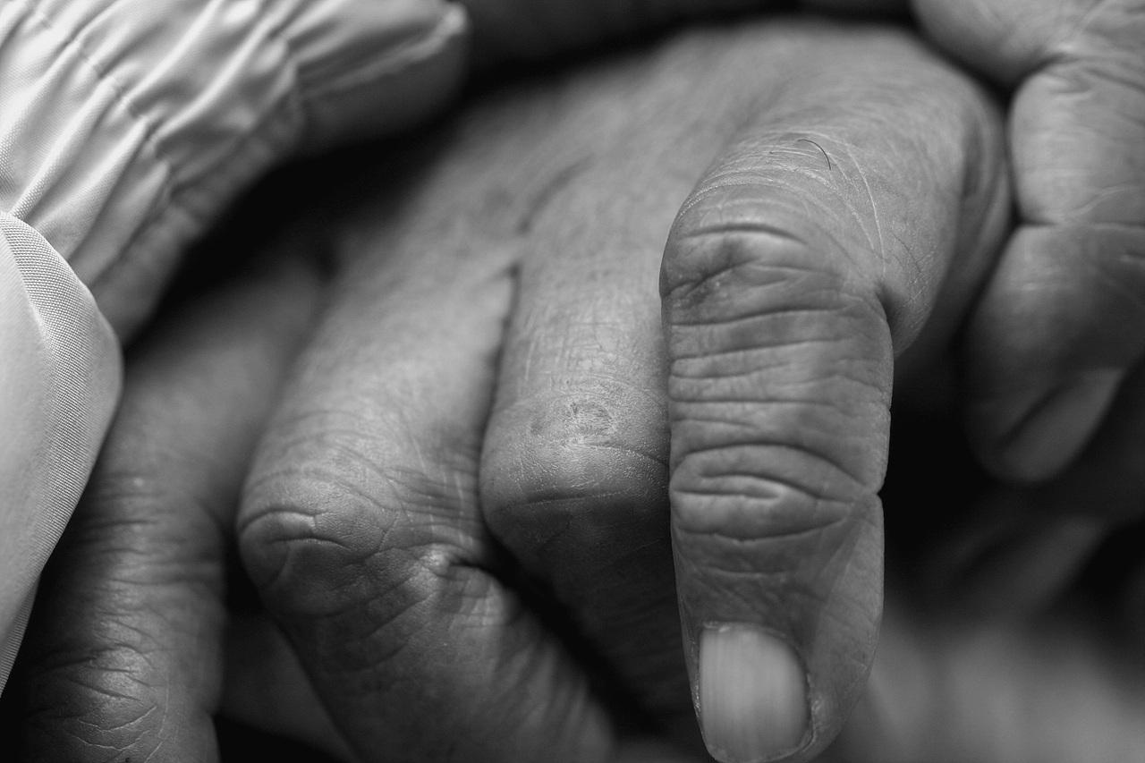 거친 손 손가락에 새겨진 노동의 흔적