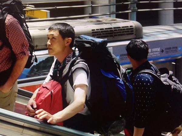 인천공항. 친구가 남겨준 출발하는 날의 사진