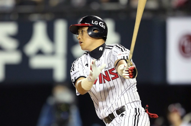 19일 3안타 2타점으로 LG 3연승에 기여한 채은성