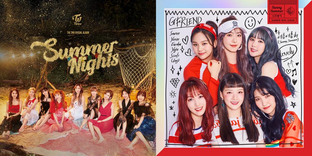 트와이스의 < Summer Nights >, 여자친구의 < Sunny Summer > 음반 표지