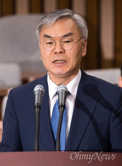 김선수 대법관 후보자가 23일 오전 서울 여의도 국회에서 인사청문회에 출석하고 있다