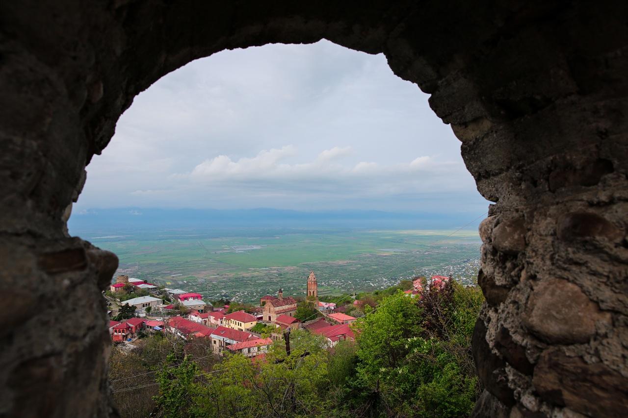 시그나기 마을 풍경 시그나기 성에서 바라본 시그나기 마을