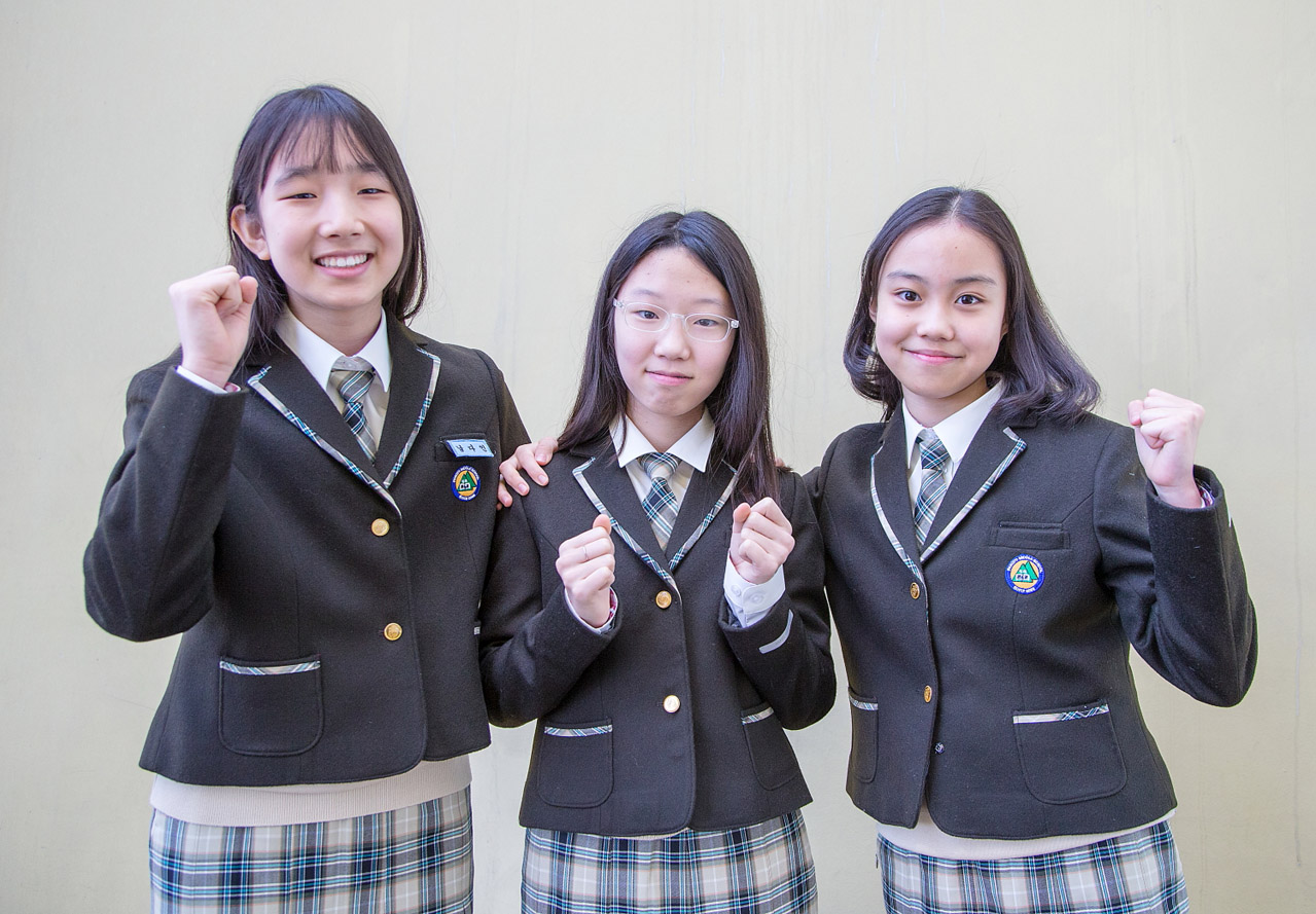 교복을 입은 성남시 재학 학생들